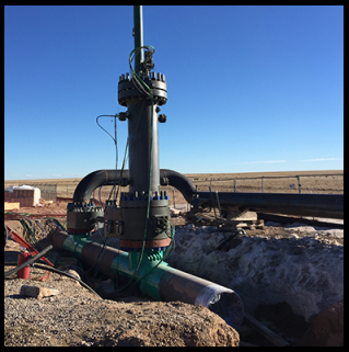 "30"" BISEPs™ isolating CO2 pipeline at 2000 psi with active bypass"